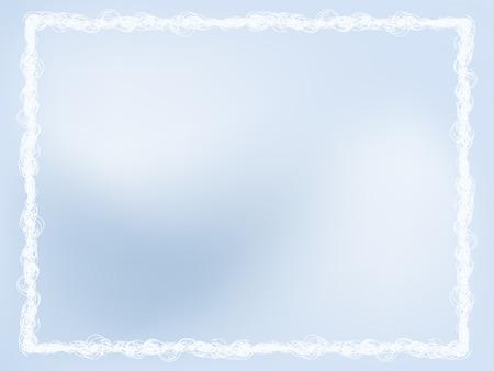 Marco de invierno de luz-Blue