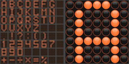 Alfabeto de LED Vectores