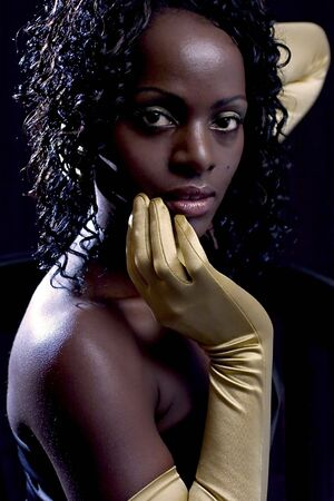 fem: The woman with golden gloves