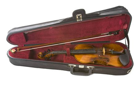 Violin in carrying case