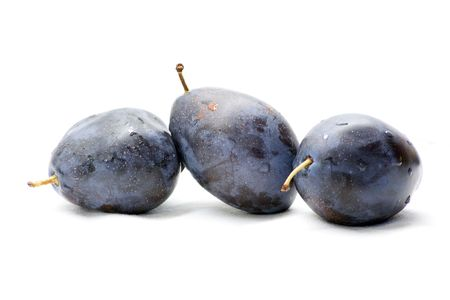 Plums isolated with white background Stock Photo - 2142356