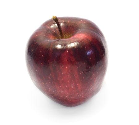 Red apple isolated with white background  Stock Photo