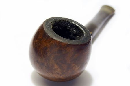 old english: Old smoked English briar pipe Stock Photo