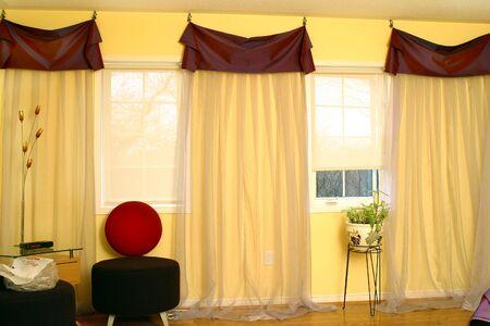 suburban: Interior of suburban house with draperies