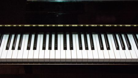 close-up of piano keyboard  photo