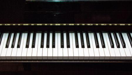 close-up of piano keyboard  photo