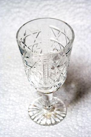 Crystal empty liqueur-glass Stock Photo