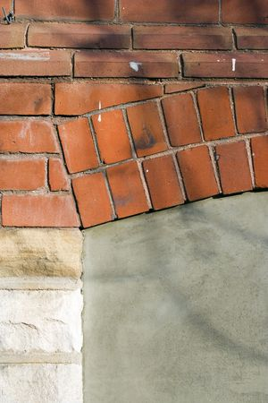 Old brick wall structure for background using
