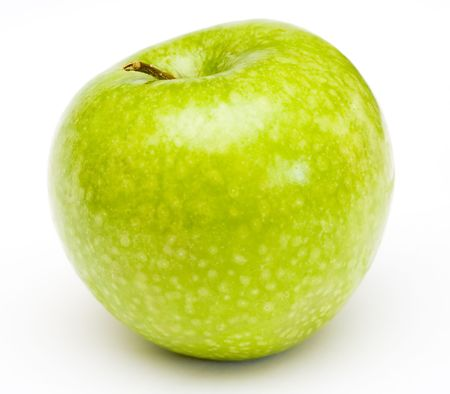 Fresh green apple at white background