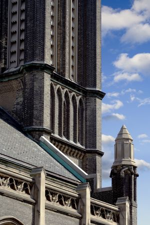View of St James Anglican Cathedral, Toronto, Canada Stock Photo