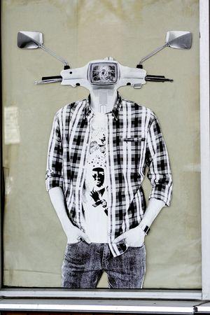 Graffiti-painted window in Downtown Toronto