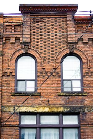 Close-up of Victorian style building in Downtown Toronto photo