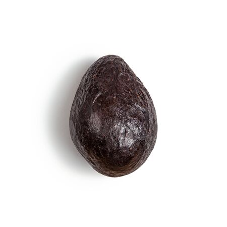 avocado haas on white background with shadow isolated