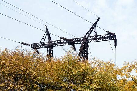 110 kv power lines Stock fotó