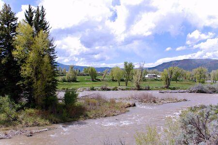 colorado rockies: River in Colorado Rockies