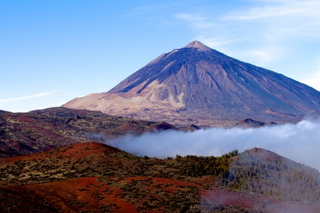 canary islands: Mt Teide Tenerife a volcano wiht blue sky