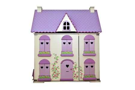 Dolls house isoated on a white background