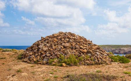 menorca: very Large Rock stack in menorca