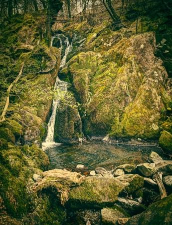 Stockghyll water fall near ambleside Stock Photo - 15936712