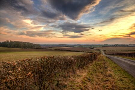Sunset in the Lincolnshire wolds a spectcular view photo