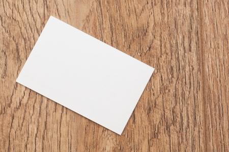 Business cards on dark desk photo
