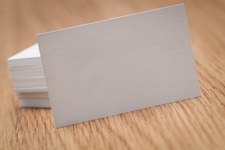Business cards on a desk