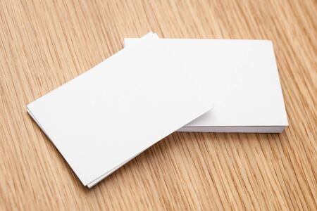 Pile of bkank business cards Stock Photo - 18242439