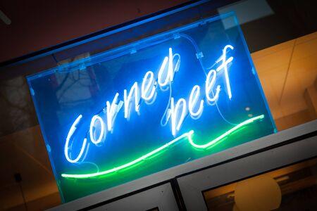 Corned beef deli sign Фото со стока - 18854924