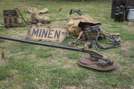Vintage mine sweeping equipment