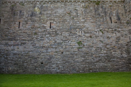 Wall of a castle photo