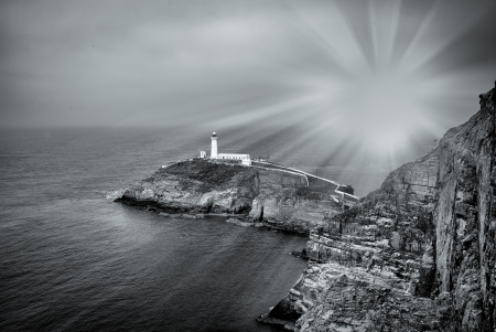 heathland: The Lighthouse at south stack