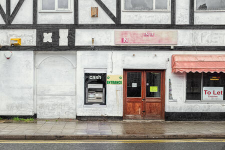 dodgy: Cash machine in bad area of town