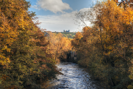 Autumn view of riber castle in from matlock photo