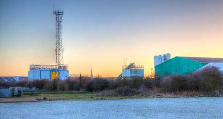 industrial park: Sunset over an industrial park