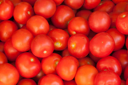 Lots of Red Tomatos for sale Stock Photo