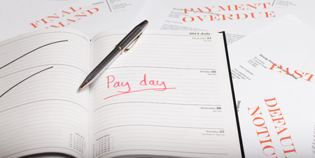 arrears: Pay day loan concept shot Stock Photo