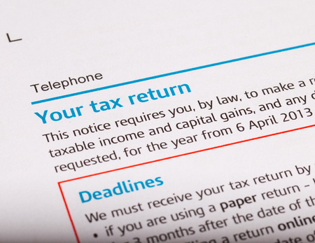 close up shot of a tax return
