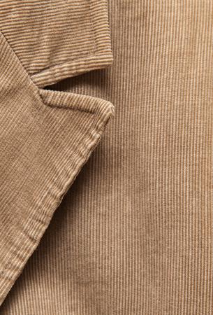 corduroy: corduroy jacket close up shot Stock Photo