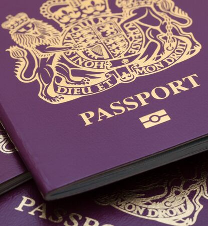 passport background: Many Uk Passports