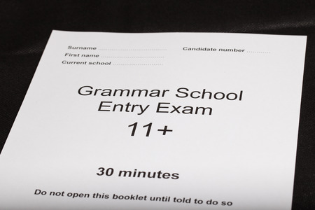 Entrance exam paper for an exam photo
