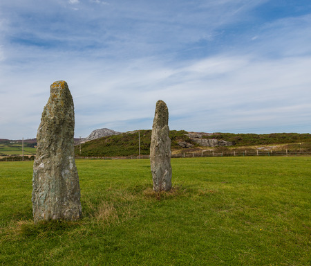 Ancient stone circle with standing stones photo
