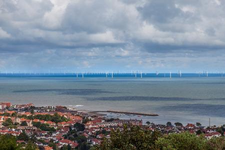 Off shore windfarm of N wales coast photo