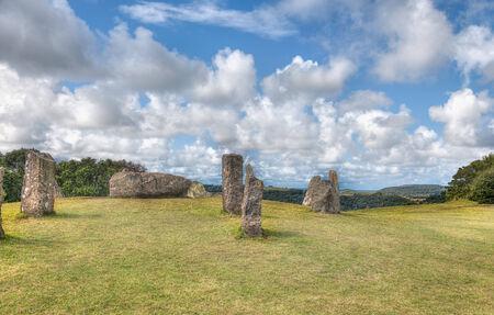 steencirkel: Oude stenen cirkel met staande stenen