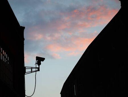 monitored: Security camera operating CCTV