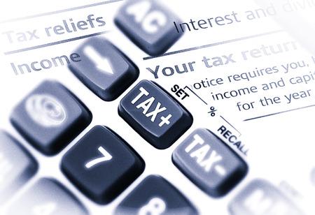 impuestos: Cierre de tiro macro de la calculadora con el bot�n de impuestos