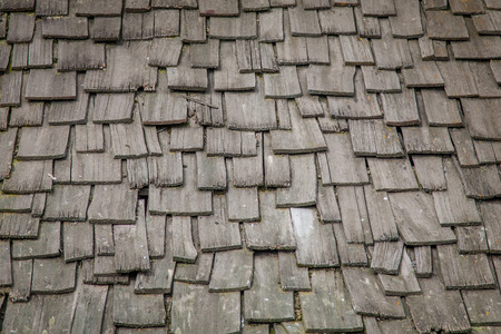 rood: An old wooden rood with wooden roof tiles Stock Photo