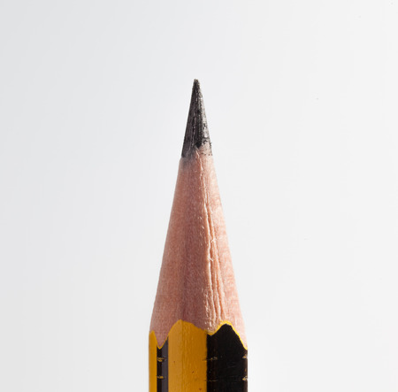 pencil point: Pencil point close up on white background Stock Photo