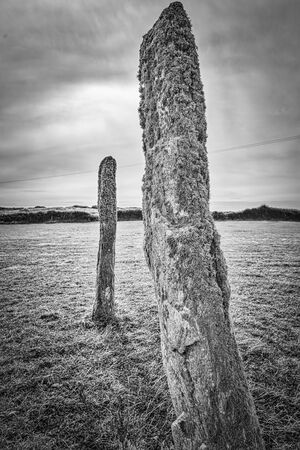 highland region: Ancient stone circle with standing stones