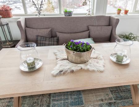 interior shot: sofa interior shot Stock Photo