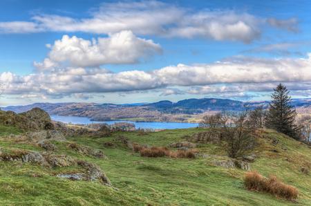 lake district: View of the English lake district